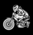 skull motor racing vector image vector image