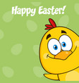 smiling yellow chick cartoon character vector image