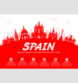 Spain Travel Landmarks vector image vector image