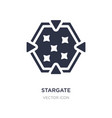 stargate icon on white background simple element
