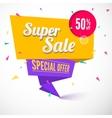 Super sale origami banner vector image vector image