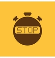 The stop stopwatch icon Clock and watch timer vector image vector image