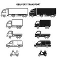 transport for delivery flat icon for apps vector image