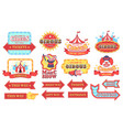 vintage circus labels welcome show boards vector image