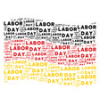 waving germany flag pattern of labor day texts vector image