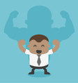 Young African businessman shadow is strong vector image vector image
