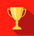cup hunting champion cartoon flat icon vector image