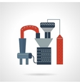 Oil processing flat icon vector image