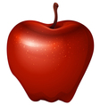 A red crunchy apple vector image vector image
