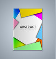 abstract brochure or book cover template on grey vector image vector image