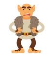 angry troll character scandinavian mythology vector image
