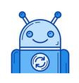 app update line icon vector image