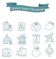 art of Merry Christmas icons vector image