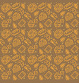 bakery signs seamless pattern background on a vector image