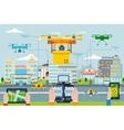 Big City Modern Technologies Concept vector image