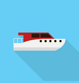 boat icon set of great flat icons with style vector image vector image