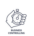 business controlling line icon concept business vector image vector image