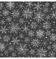 chalkboard black and white snowflakes seamless vector image