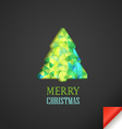 Christmas greeting card with abstract vector image vector image