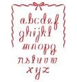 Christmas ribbon minuscules alphabet