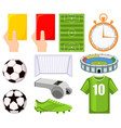 colorful cartoon soccer championship 11 elements vector image