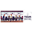 company business team working in office vector image vector image