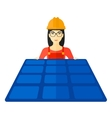 Constructor with solar panel vector image vector image