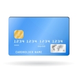 Credit card isolated on white vector image
