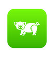 cute pig icon green vector image