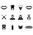 Dentist icon set vector image vector image