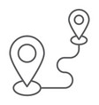 destination thin line icon gps and location map vector image vector image