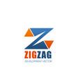 development company letter z icon vector image vector image