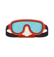 dive mask glasses snorkel icon graphic vector image
