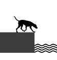 Dog at the shore vector image vector image