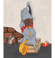 Dog the street musician Cartoon vector image vector image