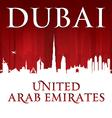 Dubai UAE city skyline silhouette vector image vector image