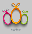 Easter card with abstract design cut out colored vector image vector image