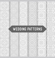 ethnic floral seamless wedding patterns vector image