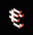 euro isometric pixel icon vector image