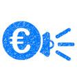 euro megaphone ads icon grunge watermark vector image