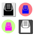 file archive flat icon vector image vector image