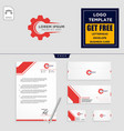gear and business chart logo template and vector image vector image