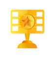 golden film award on a white vector image
