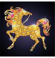 golden horse vector image
