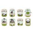 golf set 12 logos vector image vector image