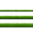 green grass border isolated white background vector image vector image