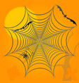 halloween background spider bats and graves vector image vector image