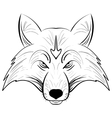 Hand drawn fox headInk sketch Fox vector image