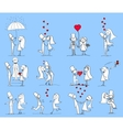 Hand Drawn Wedding Couple Set vector image vector image