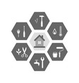 house and tools as repair and renovation concept vector image vector image